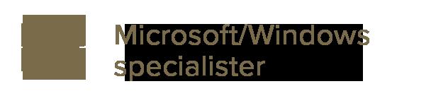 Microsoft windows specialister